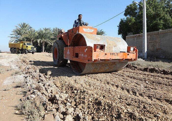 بهسازی جادههای روستایی رامشیر به همت نفت و گاز آغاجاری