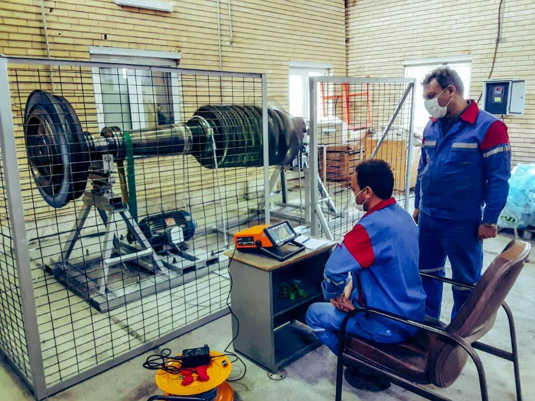 ساخت دستگاه بالانس روتور در منطقه ۲ عملیات انتقال گاز