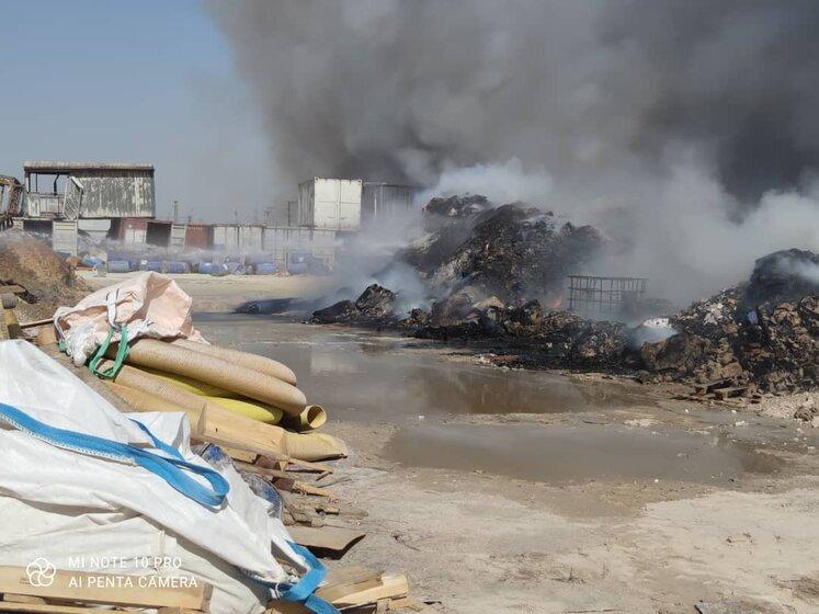 آتشسوزی انبار ضایعات پتروشیمی شهید تندگویان مهار شد
