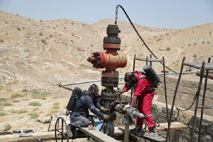 چاه گازی ۲۹۸ مسجدسلیمان ایمنسازی شد