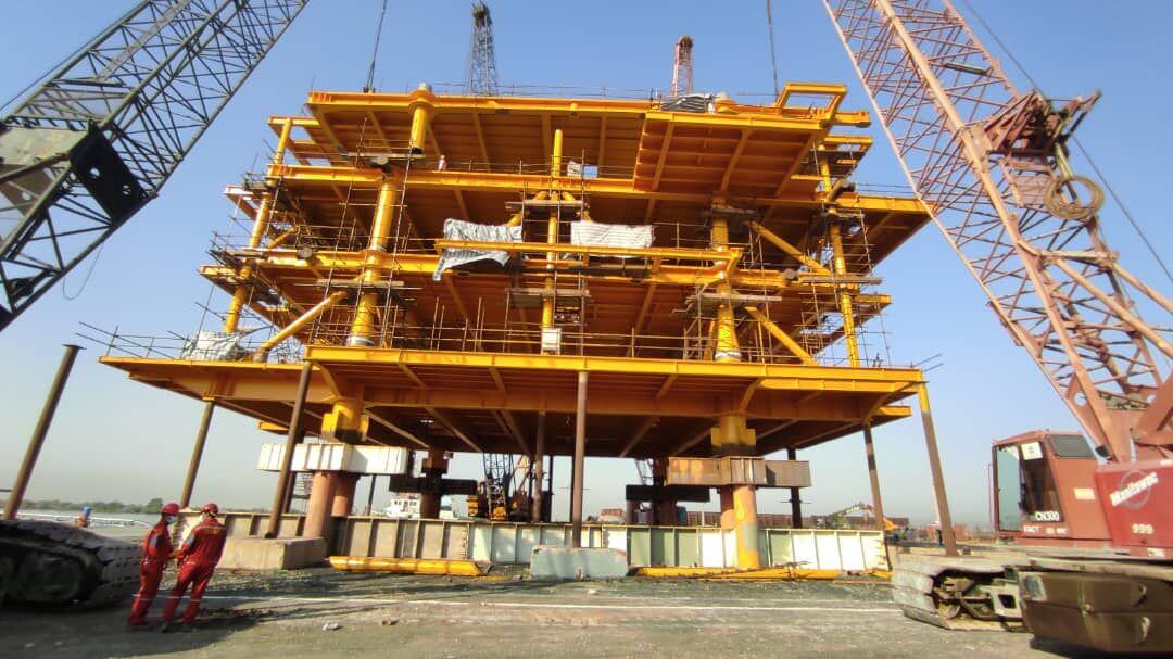 152-ton Topside of Forouzan Offshore Platform Installed