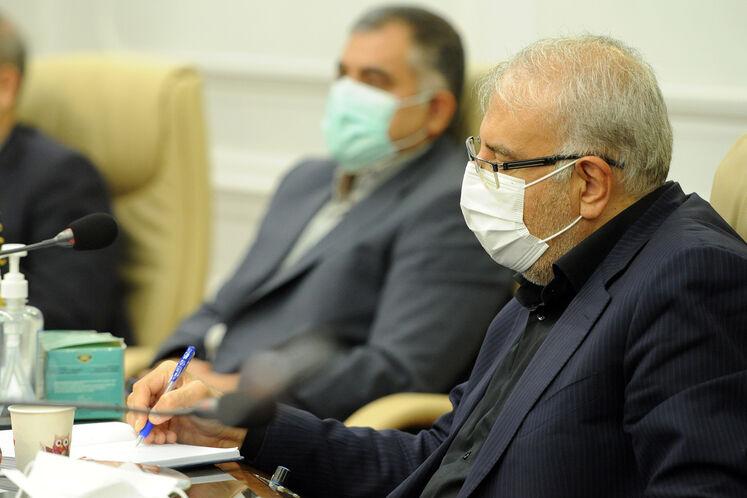 جواد اوجی ،وزیر نفت درنخستین جلسه شورای معاونین وزارت نفت
