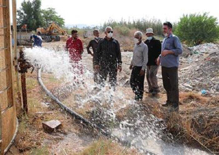 رفع بحران آبی کوی دستیاری امیدیه با همکاری صنعت نفت