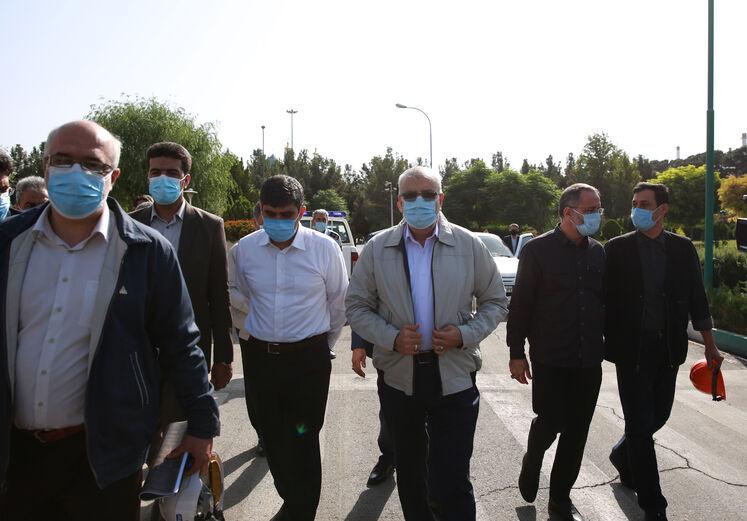 بازدید وزير نفت از پالایشگاه تهران