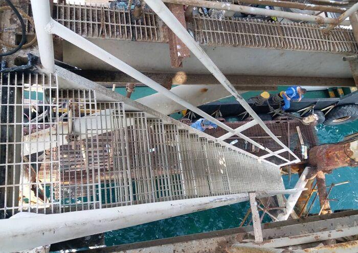 راهپله سکوی D-۱ میدان درود تعویض شد