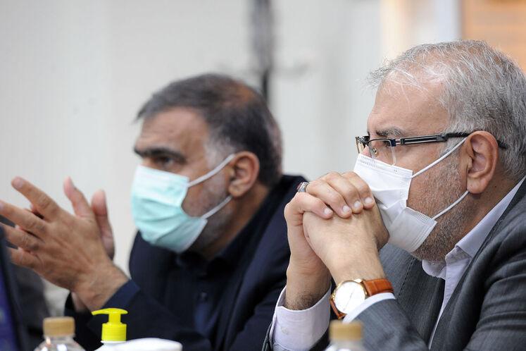 جواد اوجی، وزیر نفت و فریدون حسنوند، رئیس کمیسیون انرژی مجلس شورای اسلامی