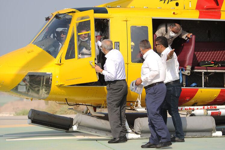 بازدید جواد اوجی، وزیر نفت از سکوی گازی فاز یک پارس جنوبی (SPQ۱)/ روز جمعه ۱۲ شهریورماه