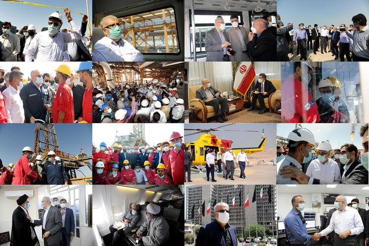 گزیده تصاویر سفرهای اوجی به پایتختهای نفتی و گازی ایران