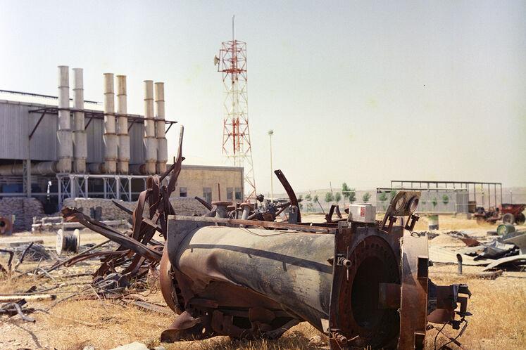 تخریب تأسیسات تلمبهخانه باغ ملک در جنگ تحمیلی