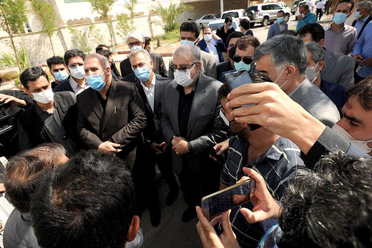 دیدار مردمی وزیر نفت در شهرستان مهران