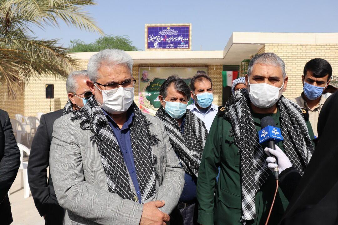 افتتاح مدرسه ۳ کلاسه در روستای شریعه سیدعبود شهرستان خرمشهر