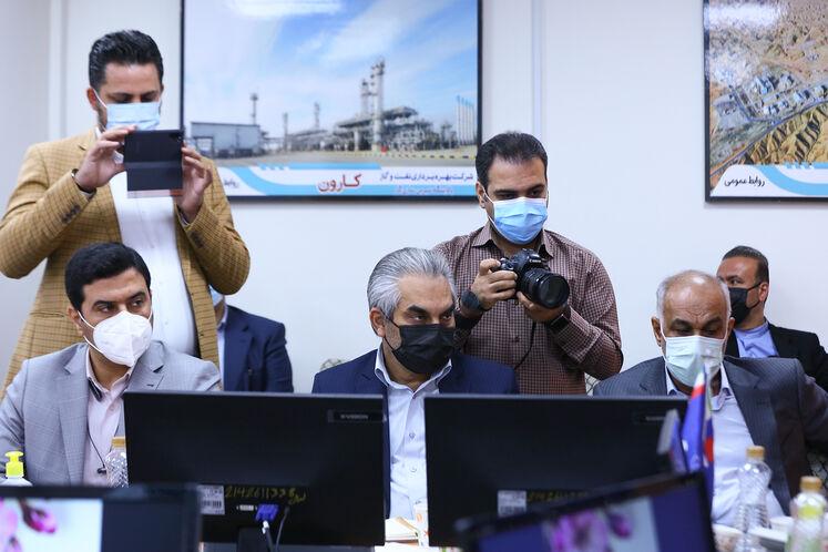 آیین تکریم احمد محمدی، مدیرعامل پیشین و معارفه علیرضا دانشی، سرپرست شرکت ملی مناطق نفتخیز جنوب در اهواز