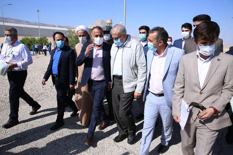 بازدید وزیرنفت از پالایشگاه گاز فراشبند