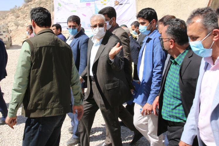 بازدید جواد اوجی، وزیر نفت از تونل ۷ قطعه ۳ بزرگراه فیروزآباد_کوار