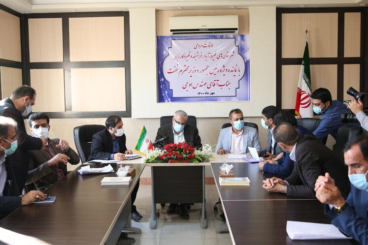 ملاقات جواد اوجی، وزیر نفت با مردم شهرستانهای فیروزآباد، فراشبند، قیر و کارزین