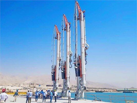 عملیات نصب بازوهای اسکله ۲ گاز مایع بندر سیراف پارس تکمیل شد