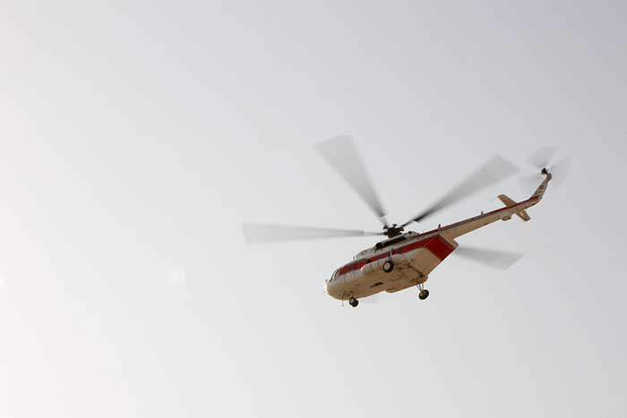 RCS Helicopter Dispatched to Contain Bistoon Co. Fire
