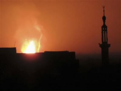 انفجار در تأسیسات نفت و گاز حمص سوریه