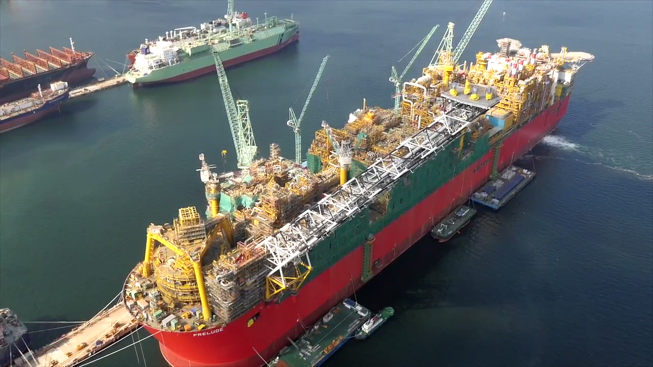 Shell's Floating LNG Plant Taking Shape