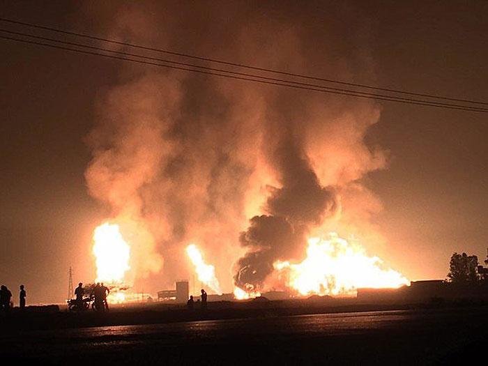 آتشسوزی در تأسیسات نفتی ابقیق عربستان
