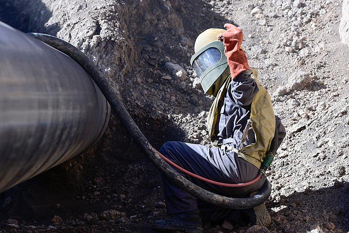 ایمنسازی خط لوله چهارم سراسری انتقال گاز در محدوده پارس جنوبی