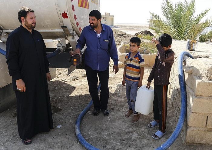 تامین آب شرب روستاهای بخش غیزانیه از سوی شرکت مارون